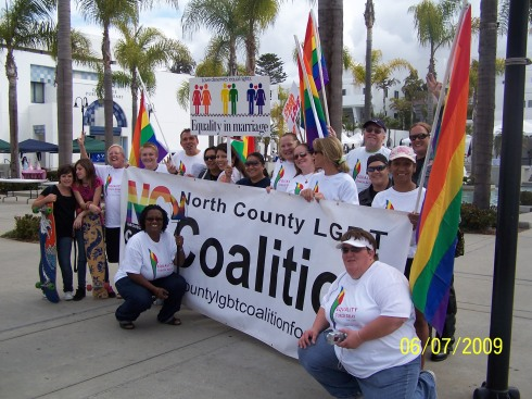 "San Diego Pride ""Equality Torch Relay"" stop in Oceanside, CA"