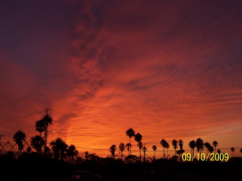 SoCal sunset 9-10-09